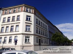 Blick von der Charlottenstrasse in die Parkstraße 1, Innenstadt von Halle (Saale) im Charlottenviertel zentrumsnah wohnen