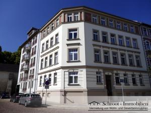 Wohnungen in der Parkstraße 1, Eckhaus Charlottenstraße, Innenstadt von Halle (Saale) im Charlottenviertel zentrumsnah wohnen
