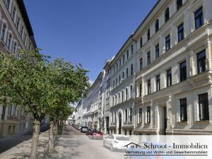 Hausansicht - Wohnungen in der Parkstraße 22, Innenstadt von Halle (Saale) im Charlottenviertel zentrumsnah wohnen